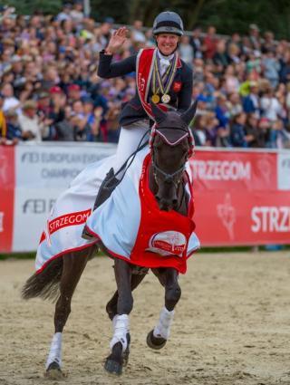 Nicola Wilson on a horse